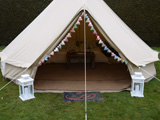 Luxury bell tents for wedding nights Gloucestershire - The Luxury Gold Bell