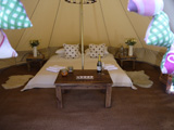 Wedding night glamping Gloucestershire - The Luxury Gold Bell