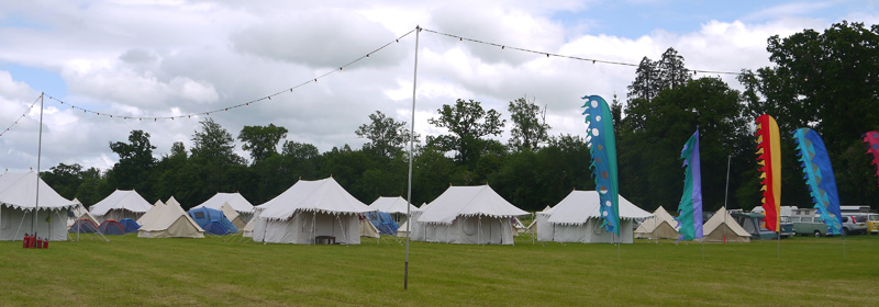 Luxury pop-up camping villages Cotswolds Glos, temporary camping wedding accommodation, additional party tent villages