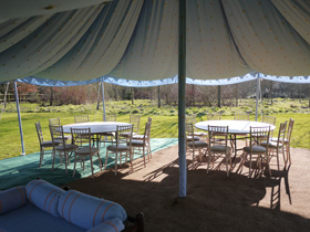 Malmesbury Marquees round party tent hire