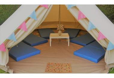 Bell tents for hire Cirencester Glos